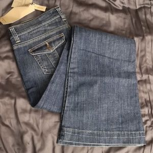 NWT Burberry wide boot leg jeans sz28 low rise